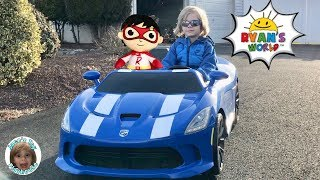 I drove myself to RYAN TOYSREVIEW for RYANS WORLD Laser Blasters and IT WORKED (Skit)