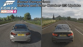 Forza Horizon 4 - BMW M4 GTS Sound Comparison - Before and After October 23 Update