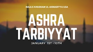 Ashra Tarbiyyat January 2021 - What Will You Commit to This Ashra?