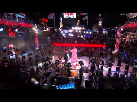 Miley Cyrus - New Years Rockin' Eve - Full Performance 2013 (Wrecking Ball & #GETITRIGHT) (DRESSED)