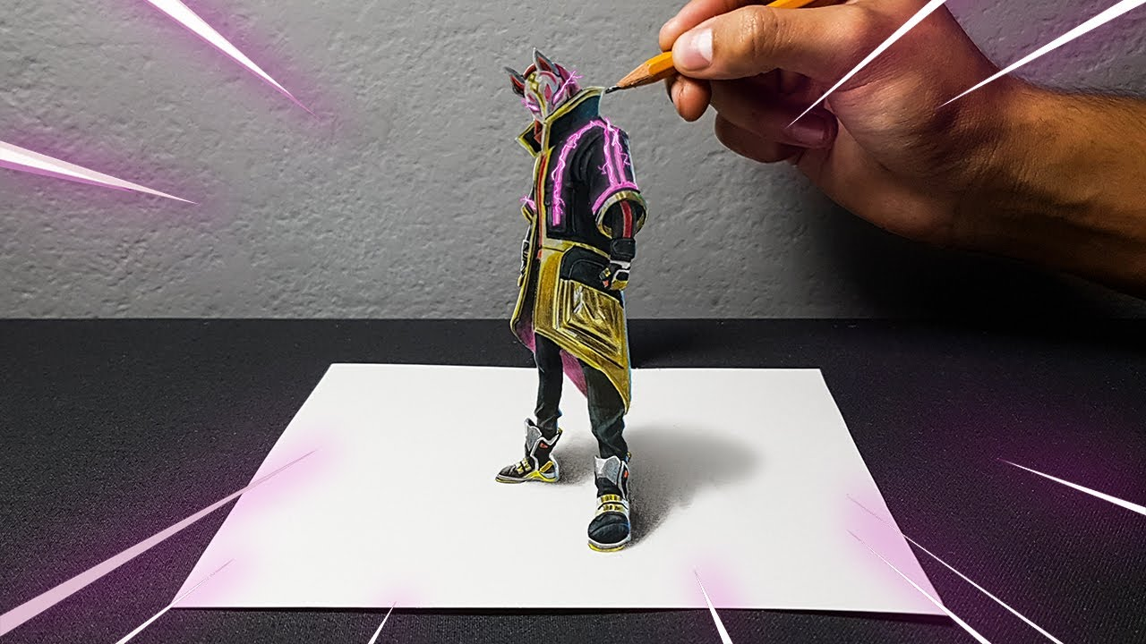 INCREDIBILE DISEGNO 3D DI FORTNITE! | DRIFT SKIN | - ART-CYO