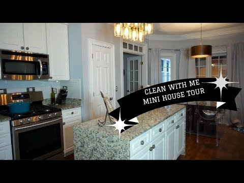 CLEAN WITH ME   SEMI DEEP CLEAN MAIN FLOOR   MINI HOUSE TOUR