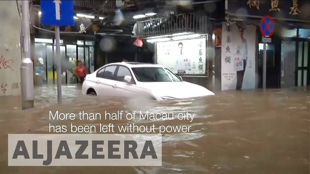 Macau and Hong Kong face brunt of deadly typhoon