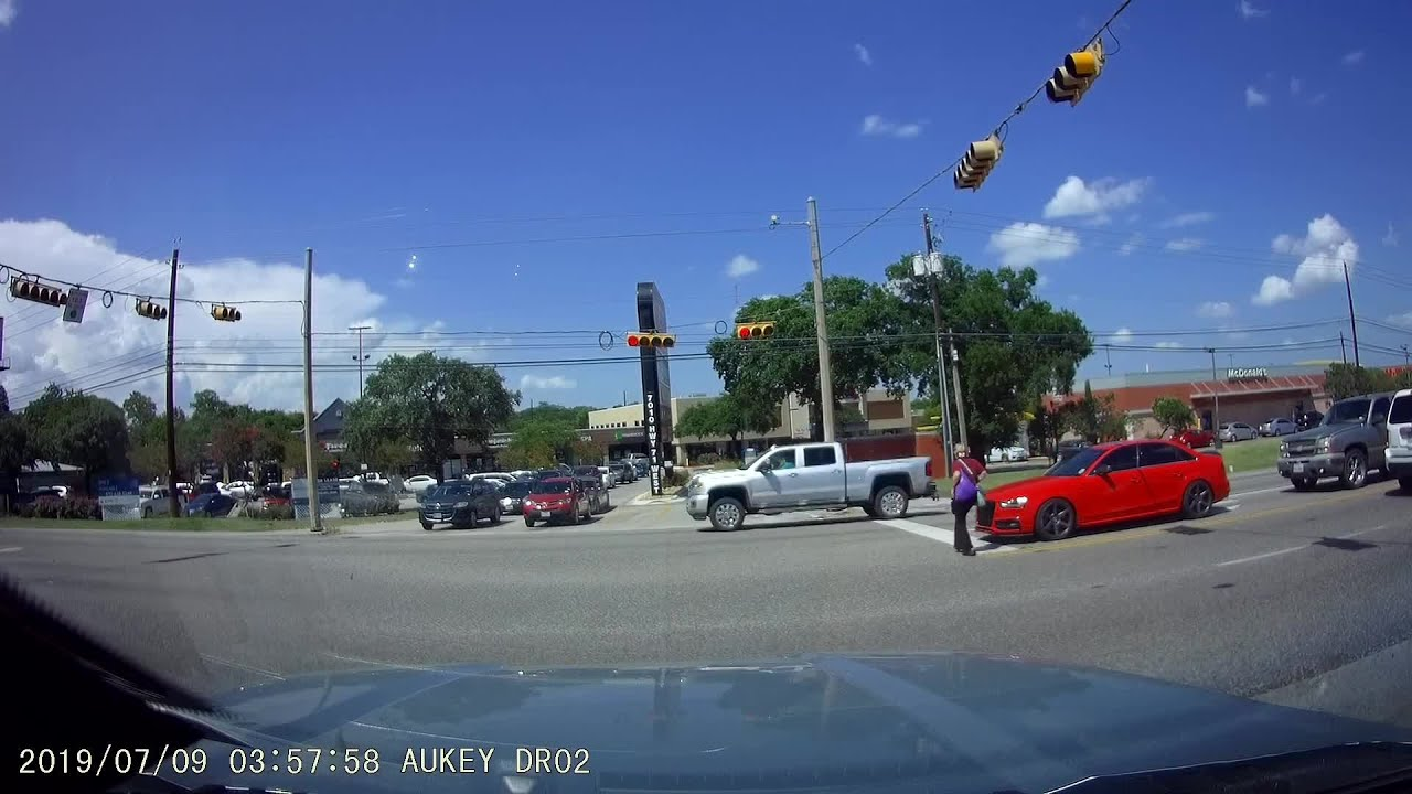 Warning Graphic Video: Woman hit by driver at Oak Hill SH 71 crosswalk