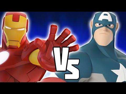 Captain America VS Iron Man - Disney Infinity BATTLES!