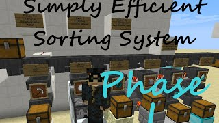 simply efficient sorting system phase i 1 non stacking items minecraft vanilla inventory