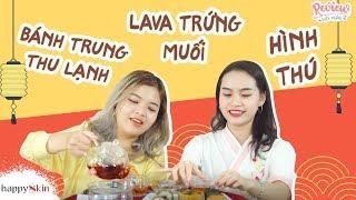 🌙 Review BÁNH TRUNG THU LẠNH🥮 LAVA TRỨNG CHẢY🤤 | REVIEW MOON CAKE | Review mỗi ngày #10 | Happy Skin