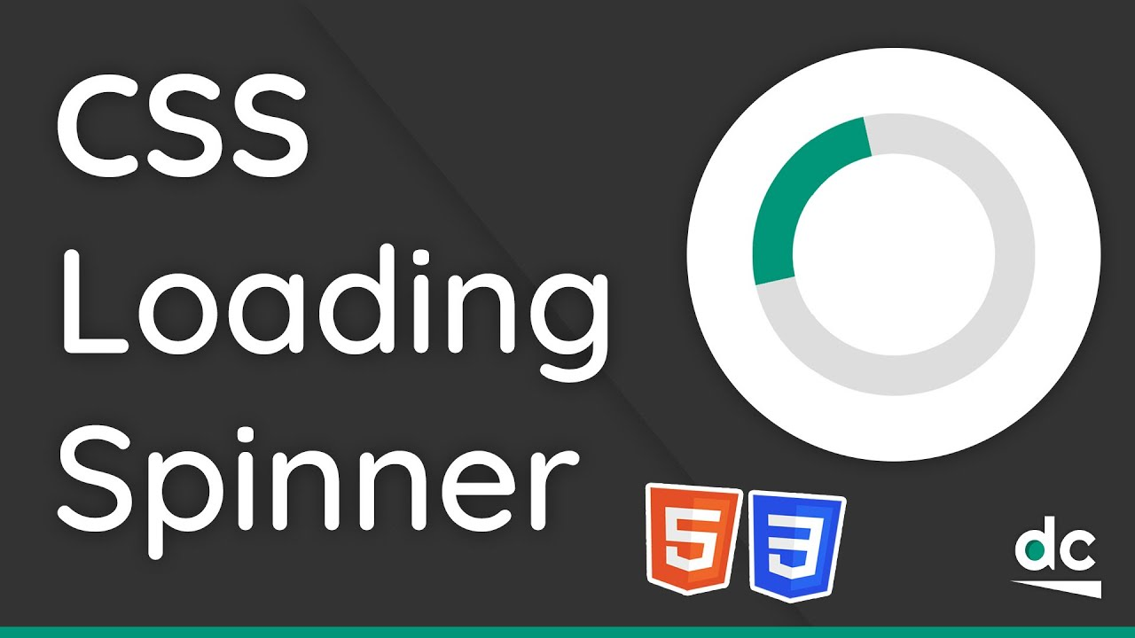 How to Create a Loading Spinner (With Animations) - HTML & CSS Tutorial