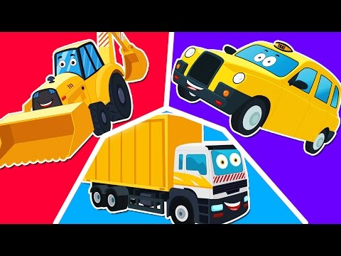 zobic | backhoe loader | compilation for kids & toddlers