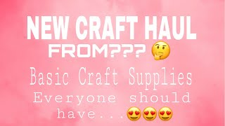 56. NEW CRAFT HAUL FROM MY FAVOURITE STORE 😍 Basic Craft Supply Everyone must have! KANAK JAIPUR