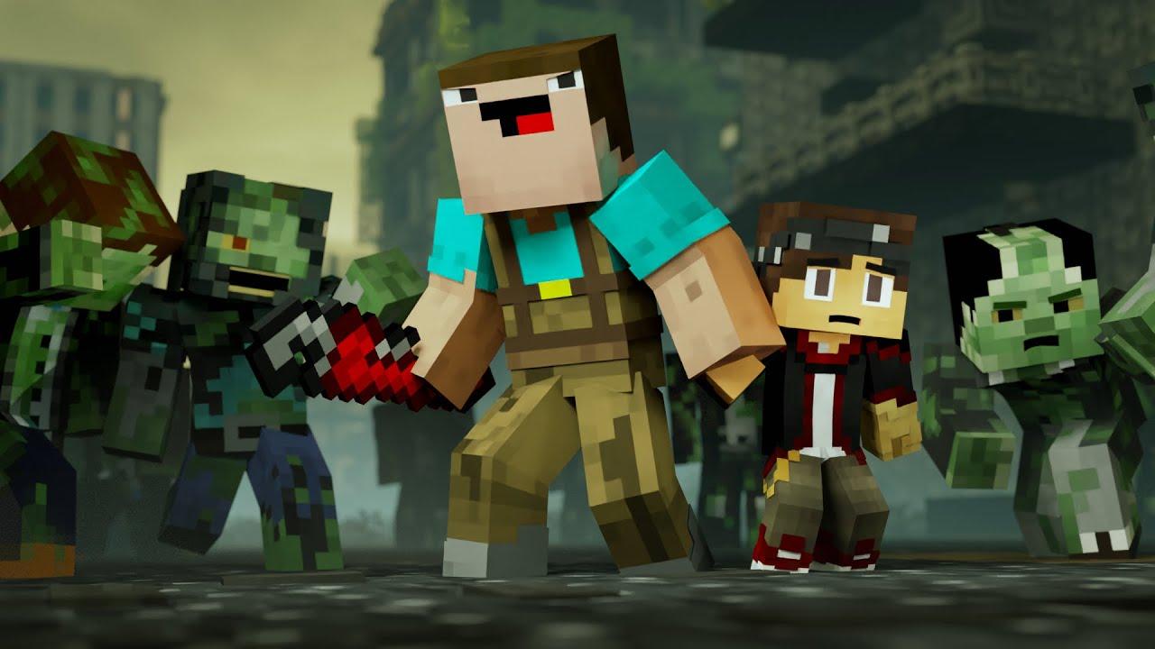 Zombie Apocalypse: BLOOPERS (Minecraft Animation) - YouTube