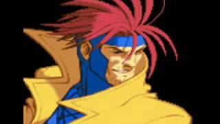 X-Men Vs Street Fighter-Theme of Gambit Video