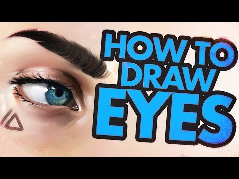 How To Draw Eyes Tutorial. Very Easy!