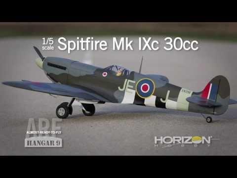 Spitfire Mk IXc 30cc ARF by Hangar 9 - YouTube