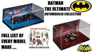 BATMAN diecast models eaglemoss Automobilia collection checklist