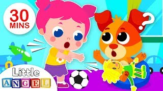 Sharing Song | 5 Little Puppies Finger Family | Kids Songs & Nursery Rhymes by Little Angel