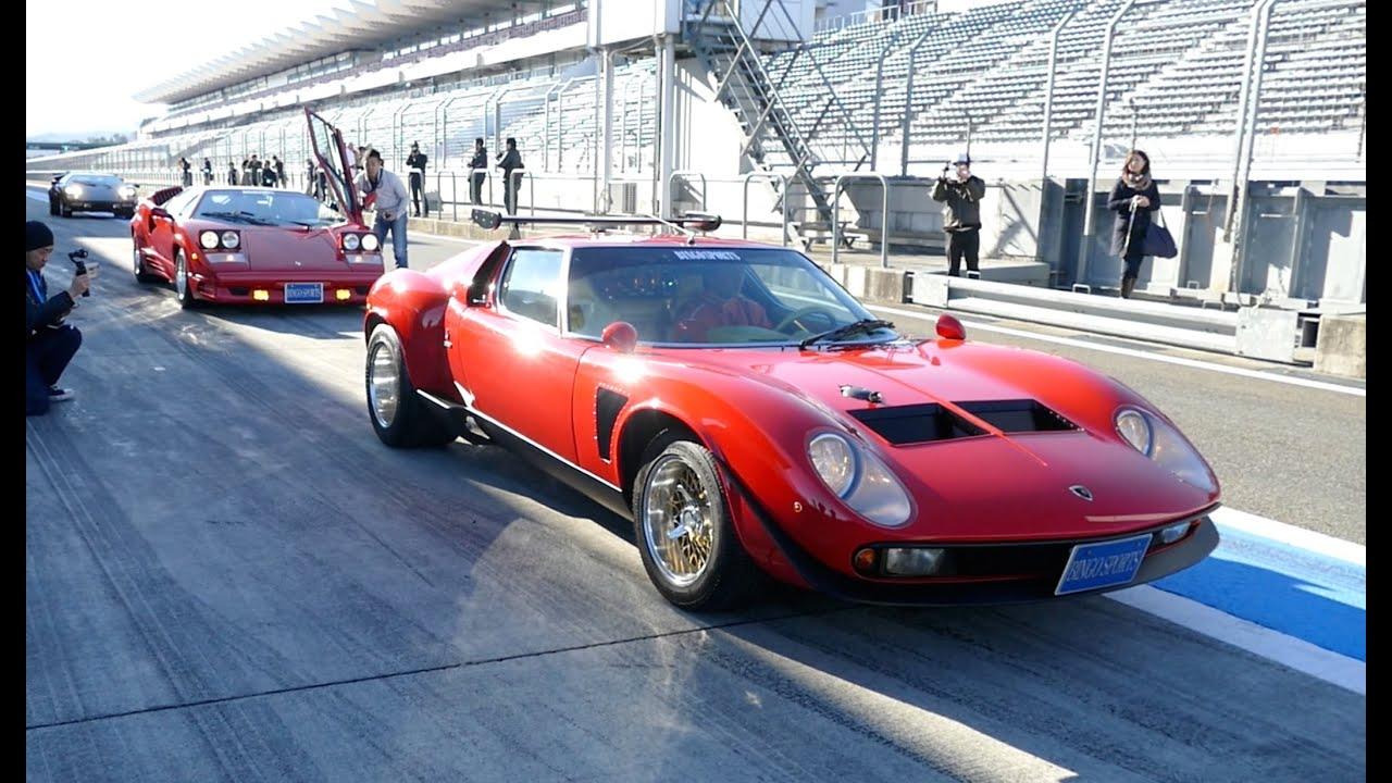 【世界に一台】幻の車、ランボルギーニ イオタが富士スピードウェイを走行!Lamborghini Jota Exhaust Sound , YouTube