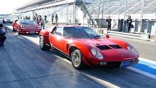 【世界に一台】幻の車、ランボルギーニ イオタが富士スピードウェイを走行!Lamborghini Jota Exhaust Sound