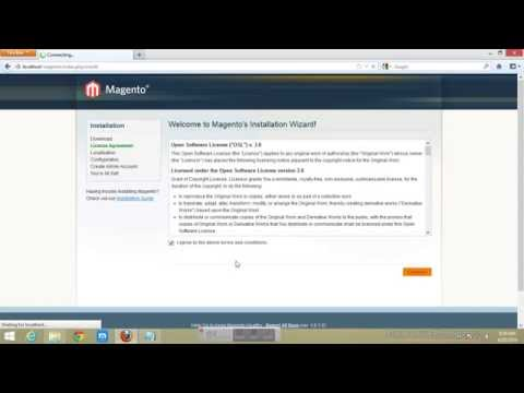 install magento on local host