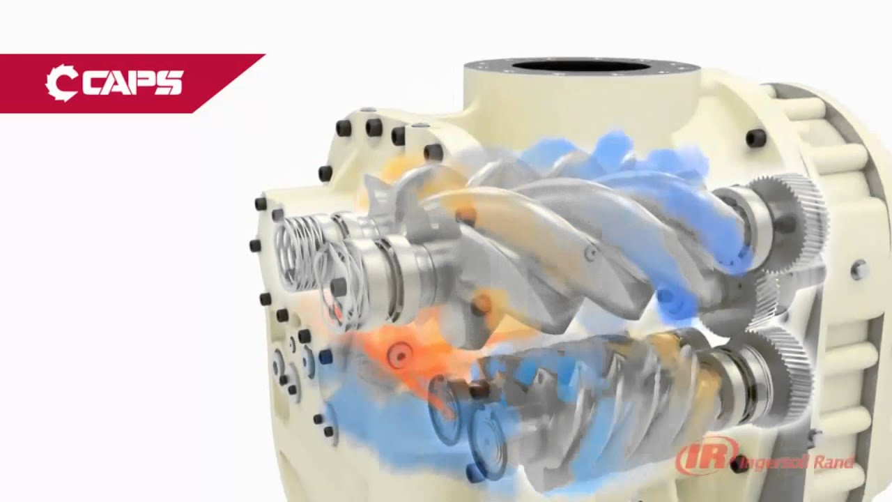 ingersoll rand rotary screw airend r series air compressor youtube rh youtube com How Does a Rotary Screw Compressor Work Rotary Screw Compressor Parts