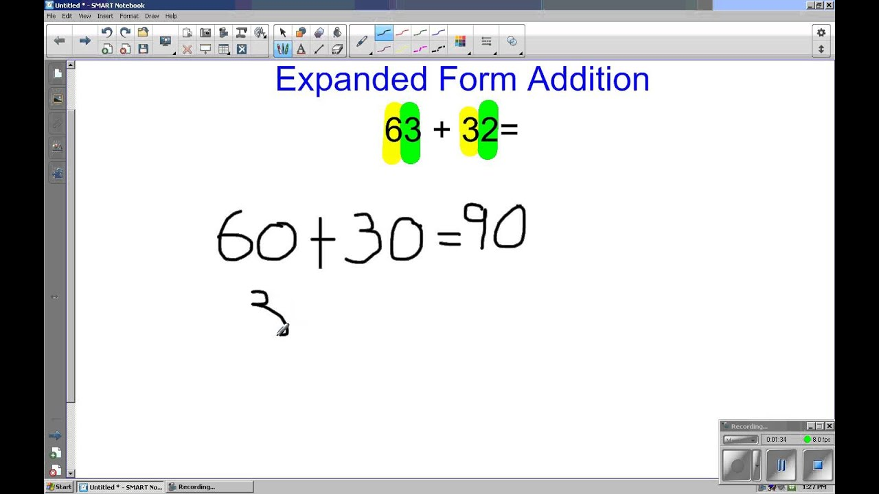 Grade 2 expanded form addition youtube falaconquin