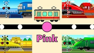 Learn colors for children | 色を英語で学ぶ電車踏切アニメ thumbnail