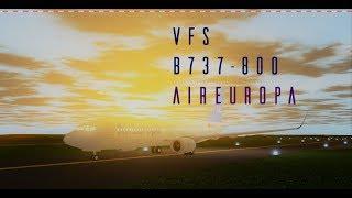 ROBLOX VFS B737-800 AirEuropa Flug!