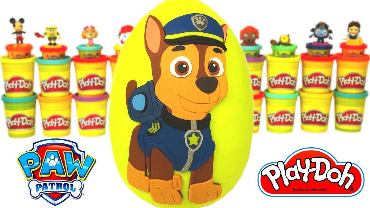 Huevo Sorpresa Gigante de Paw Patrol en Español Plastilina Play Doh Patrulla Canina de Cachorros