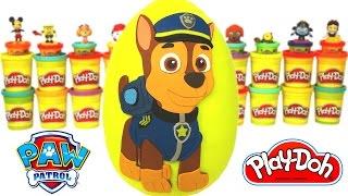 Huevo Sorpresa Gigante de Paw Patrol en Español Plastilina Play Doh Patrulla Canina de Cachorros thumbnail