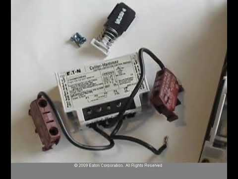 Eaton- How to convert the C30CN lighting contactor from electrically on