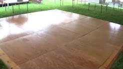 Teton Tent Rental-16x16 Hardwood Dance Floor Tour
