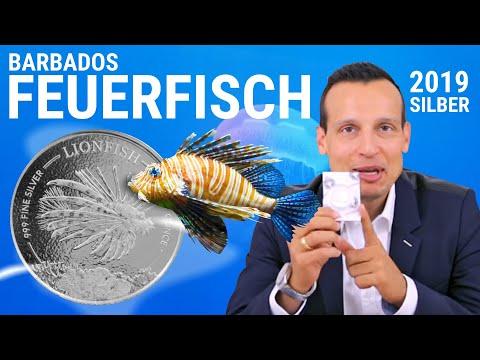 1 Unze Silber - Barbados Feuerfisch 2019 - Nur 10.000 Stück