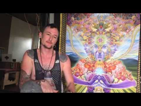 Luke brown is interviewed about visionary art, location independence, personal philosophy and more