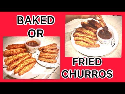 Homemade fried churros better than baked? | Easy and tasty churros recipe