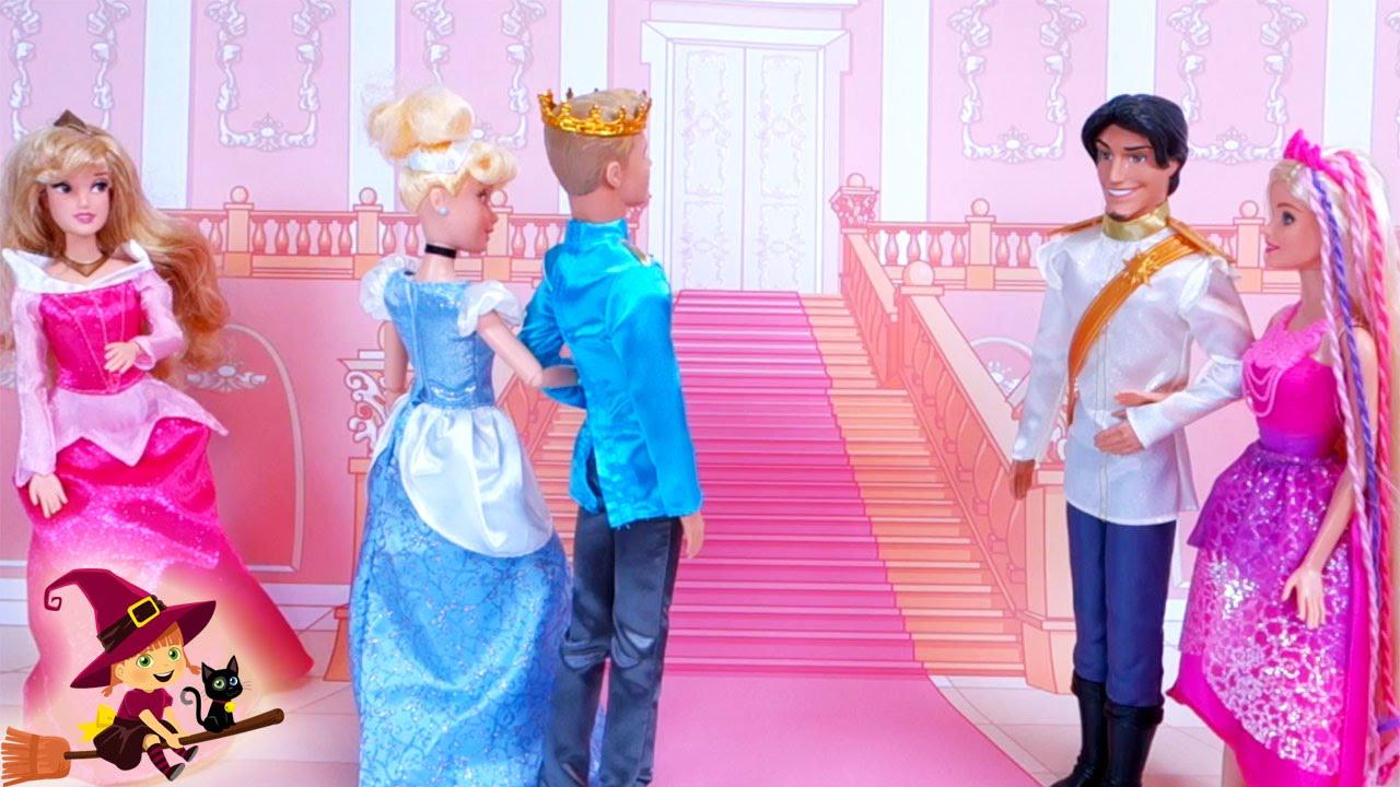 Barbie Ayuda a Cenicienta a Llegar a Tiempo a la Boda - YouTube