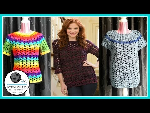 Crochet Tunic Tutorial Part 1/3 1XL/2XL/3XL