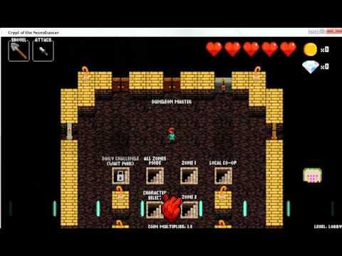 Музыкальная игра Crypt of the necrodance 1 часть.
