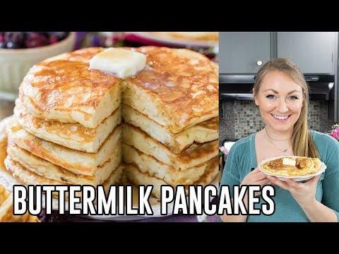 Banana Pancakes Best Ever Banana Buttermilk Pancakes Recipe Youtube