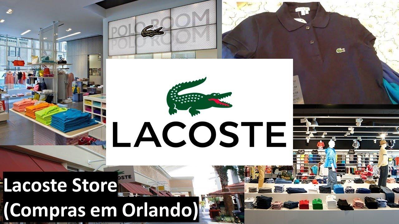 7dfb76807 Lacoste Store - (Compras em Orlando) - YouTube
