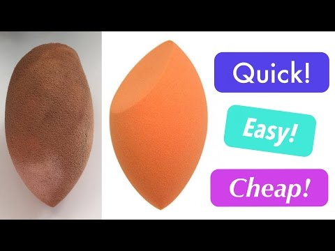 THE BEST WAY to CLEAN & Sanitize your BEAUTY BLENDER Sponge || HEATHER HAVOC