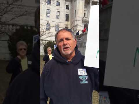 Tom Hines at March for Our Lives in Providence