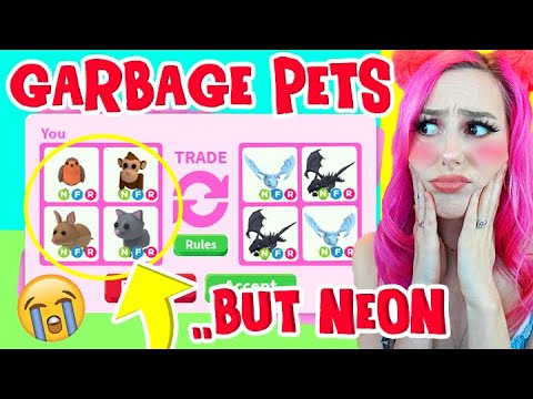 I Traded the *MOST HATED* NEON Pets in Adopt Me for 24 Hours! Roblox Adopt Me Trading