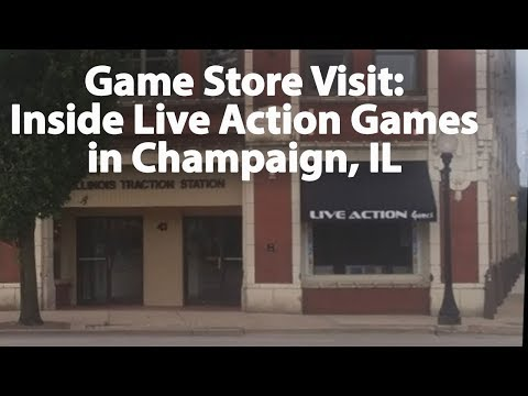 Inside Look   Live Action Games in Champaign Illinois Retro Game Store Visit