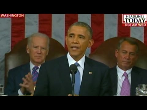 Unemployment rate has gone down: Obama in State of the Union address