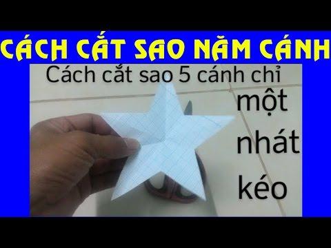Cách cắt sao 5 cánh chỉ một nhát kéo - pentacle cut themselves