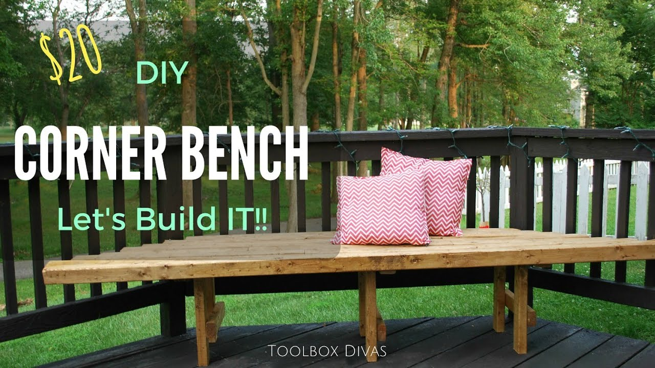 Favorite How to Build a DIY Corner Bench for Your Deck - YouTube LK58