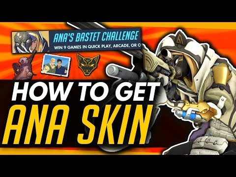 Overwatch | HOW TO EARN NEW ANA BASTET SKIN + Sprays / Victory Pose thumbnail