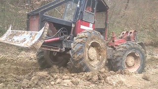 KOCKUMS 822 (lkt ursus mtz zrywka drewna Sumski traktor debardage Knickschlepper Skogsmaskiner )