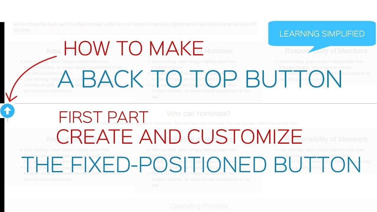 How to add jquery scroll to top button in Bootstrap Part 1-Create Button