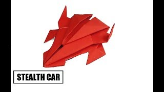 Origami Car - How To Make Origami Stealth Car | Origami Paper